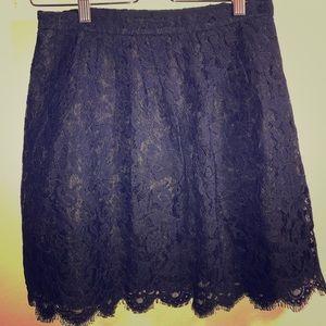 J.crew lace skirt size:2